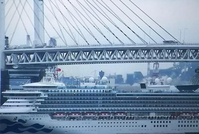 横浜べイブリッジをくぐる豪華クルーズ客船.jpg